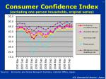 consumer confidence index excluding one person households original series