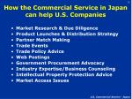 how the commercial service in japan can help u s companies