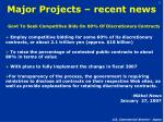 major projects recent news
