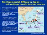 six commercial offices in japan well positioned to assist american exporters