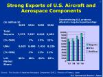 strong exports of u s aircraft and aerospace components