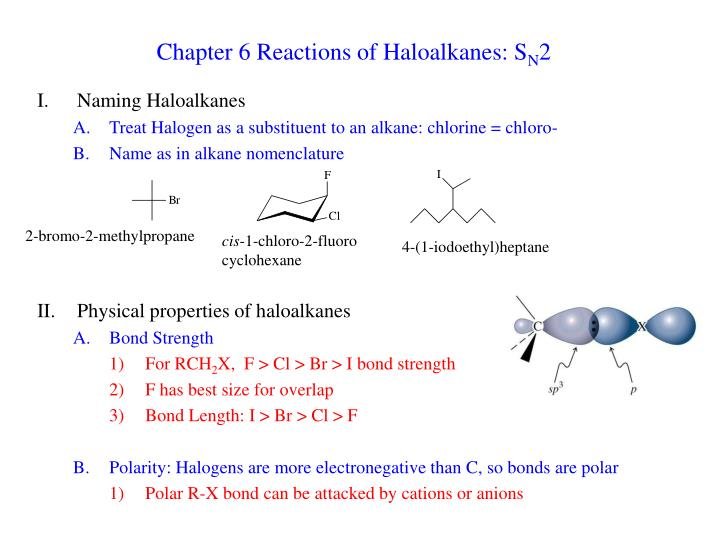 chapter 6 reactions of haloalkanes s n 2 n.