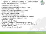 target 5 1 capacity building in communicable disease prevention and control1