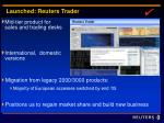 launched reuters trader