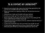 is a comet an asteroid