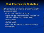 risk factors for diabetes1