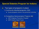 special diabetes program for indians1