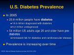 u s diabetes prevalence