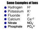 some examples of ions