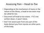 assessing pain head to toe