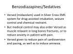 benzodiazapines sedatives
