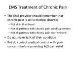 ems treatment of chronic pain