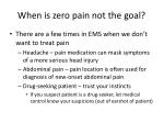 when is zero pain not the goal
