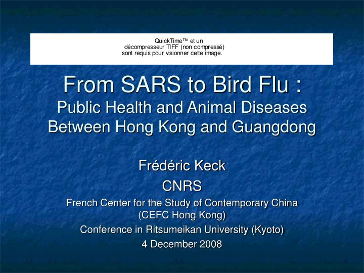 from sars to bird flu public health and animal diseases between hong kong and guangdong n.