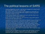 the political lessons of sars