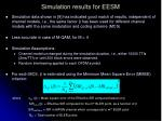 simulation results for eesm