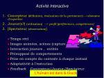 activit interactive