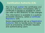 certification authority ca1