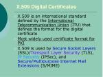 x 509 digital certificates