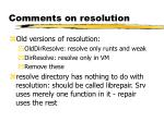 comments on resolution