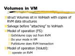 volumes in vm