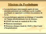 missions du psychologue