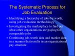 the systematic process for job evaluation