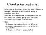 a weaker assumption is