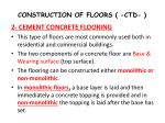 construction of floors ctd