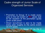 cadre strength of junior scale of organized services3