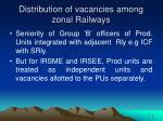 distribution of vacancies among zonal railways1