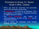 promotion to group a senior scale in misc cadres