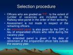 selection procedure1