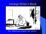 infoage writer s block