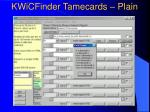 kwicfinder tamecards plain