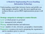 a model for implementing process enabling information technology