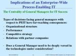 implications of an enterprise wide process enabling it