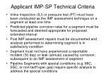 applicant imp sp technical criteria