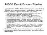imp sp permit process timeline