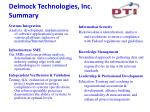 delmock technologies inc summary