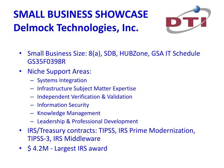 small business showcase delmock technologies inc n.