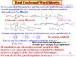dual conformal ward identity