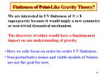 finiteness of point like gravity theory