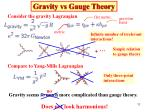 gravity vs gauge theory1