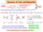 harmony of color and kinematics