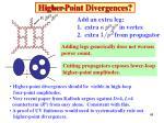 higher point divergences