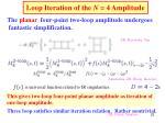 loop iteration of the n 4 amplitude