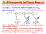 n 8 supergravity no triangle property