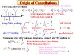 origin of cancellations
