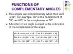 functions of complementary angles